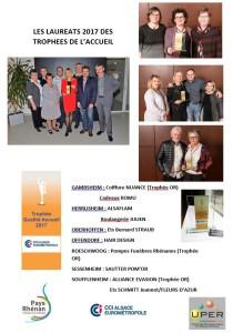 Lauréats trophée de l'accueil 2017
